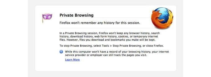 Firefox tiene un nuevo modo de navegación privada