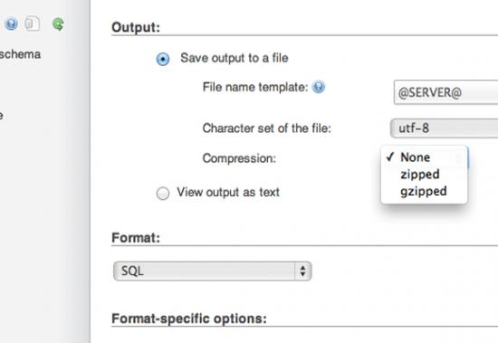 phpmyadmin zipped compression database e1366749713989