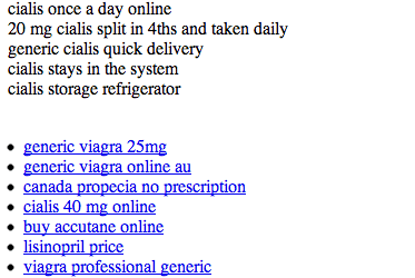sitio hackeado farmaceuticas
