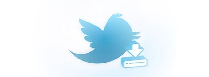 Twitter comienza con la opción de descargar tweets