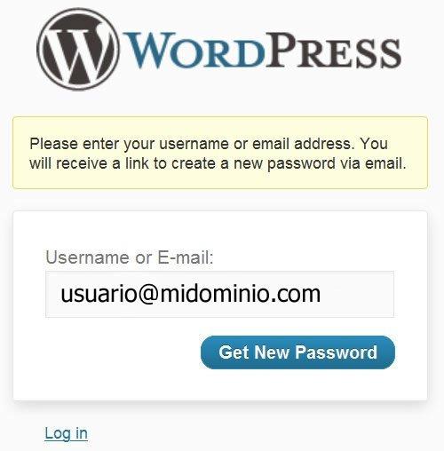 contraseña perdida en wordpress errores más comunes