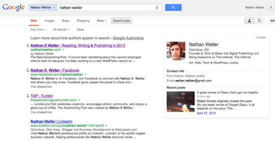 nathanbweller GoogleSearch Author Page e1367956115782