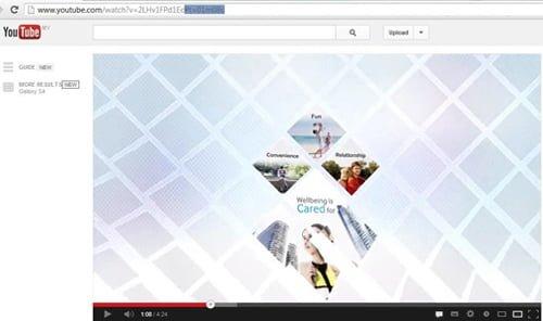tiempo especifico video youtube