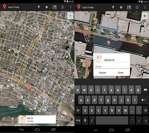 Auto Finder mapa