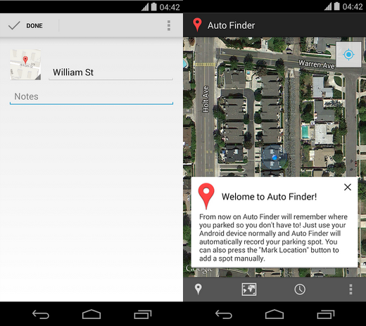 Auto finder App android