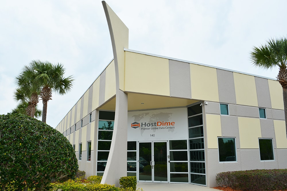 Data center HostDime. Orlando, Florida