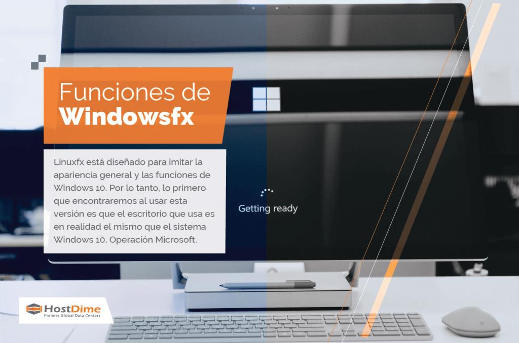 Funciones de Windowsfx a