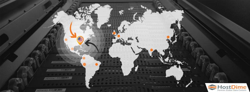 Mapa-orlando, florida HostDime