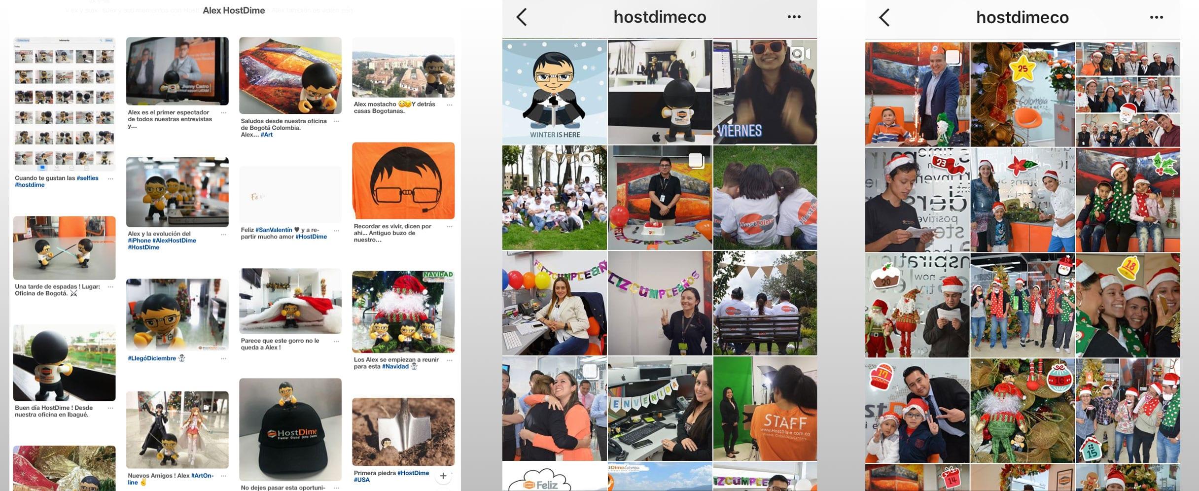 Publicaciones en Redes HostDime