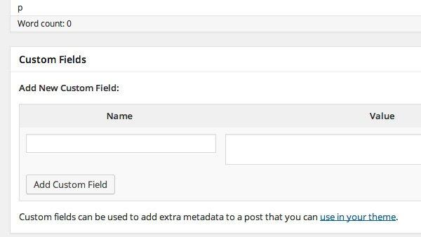 añadir campo personalizado en wordpress