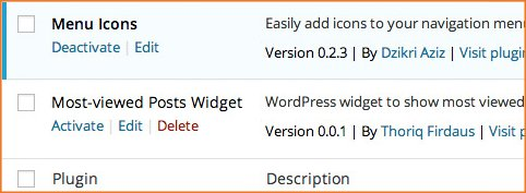 activacion plugin menu icono wordpress