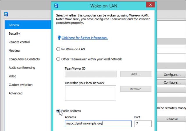 activando computador con teamviewer wake on lan