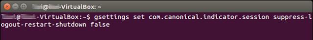 activar cuadro de confirmacion apagado y reinicio ubuntu 1404