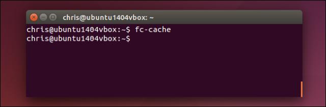 actualizando cache tipografia linux