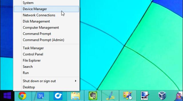 administrador de dispositivos en windows 8