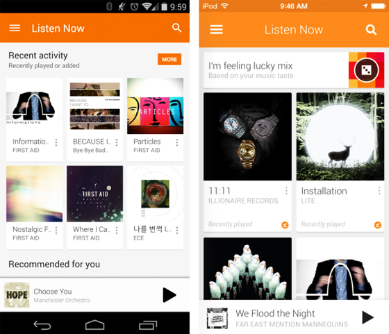 aplicacion android google play music