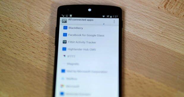 aplicaciones web conectadas cuenta google