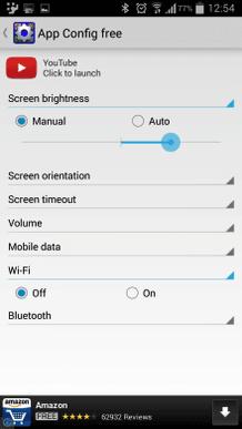 app config para android