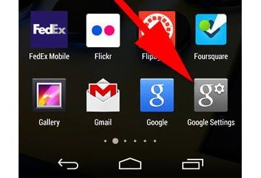 app google settings