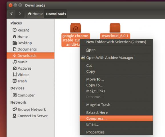 archivo comprimido ubuntu