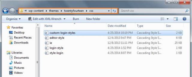 archivo css personalizado