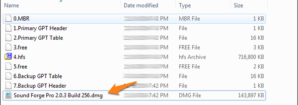 archivo dmg extraido
