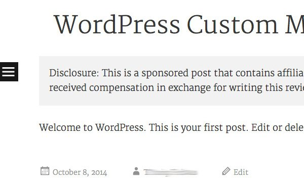 articulo patrocinado en wordpress