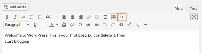 boton añadido editor wordpress