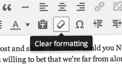 boton de formato wordpress