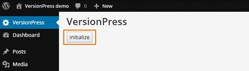boton inicializar versionpress