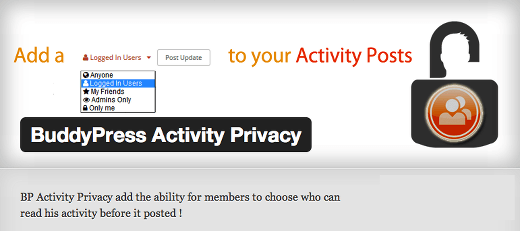 buddyPress Activity Privacy