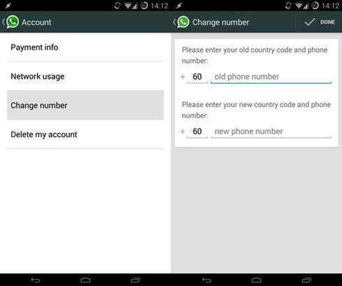 cambiar numero de telefono en whatsapp