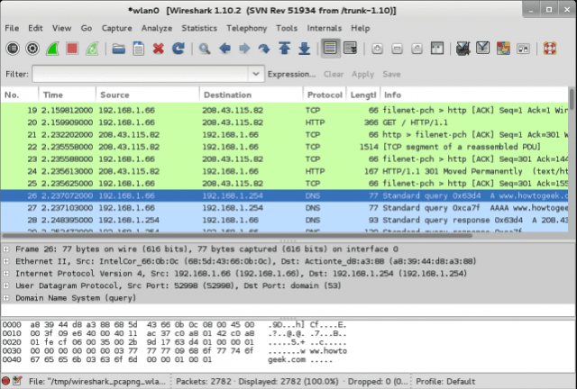 capturar paquetes con wireshark