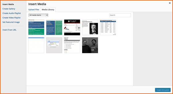 cargador de archivos multimedia en wordpress