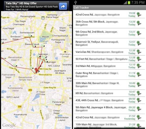 cell tracker aplicacion android hacer seguimiento
