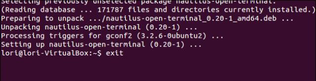 cerrar terminal de ubuntu