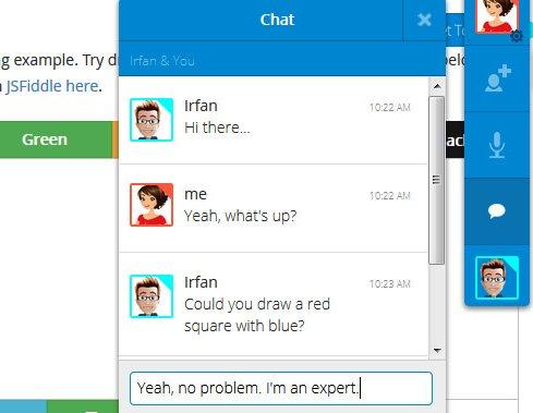 chat colaboradores con togetherjs