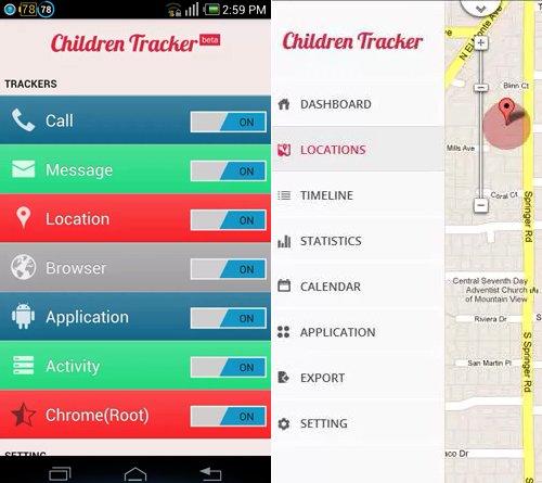 children tracker aplicacion android rastrear niños