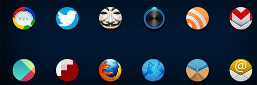 circle icons Android