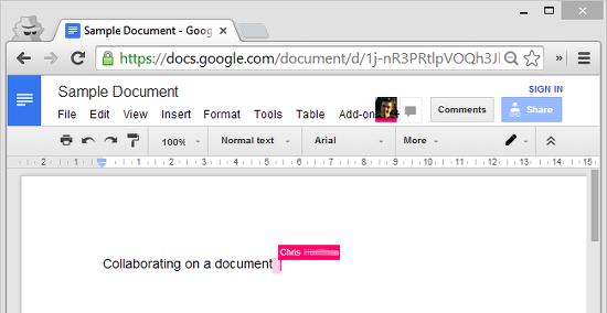 colaboracion en tiempo real google docs