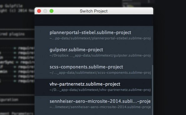 complemento proyecto sublime text