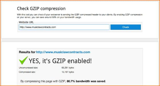 comprimir web con gzip