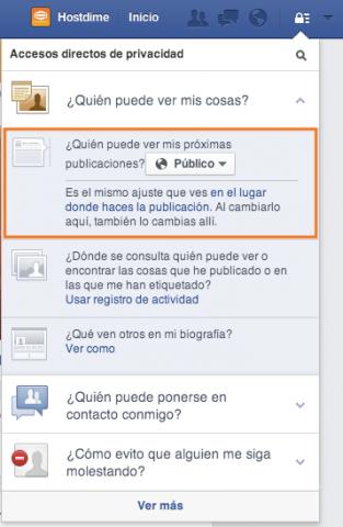 configurar privacidad publicaciones en facebook