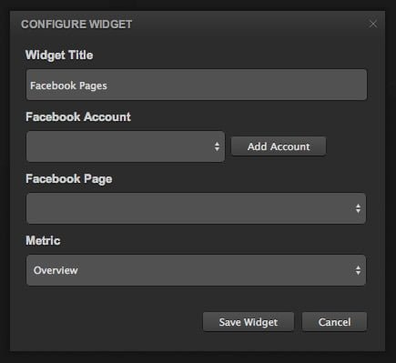 configurar widget en cyfe