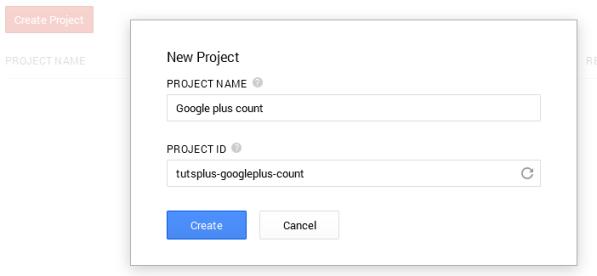 consola google crear