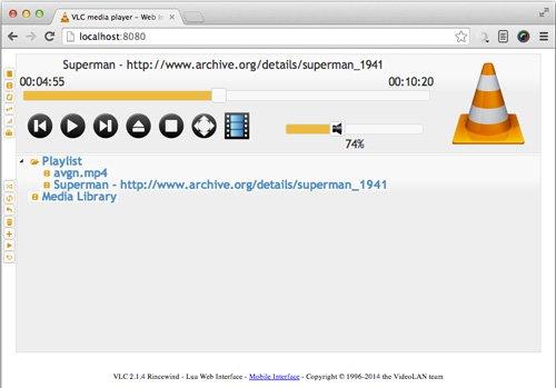 controlar VLC desde navegador web