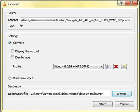 convertir archivos con VLC