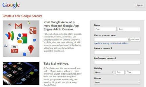 crear cuenta en gmail