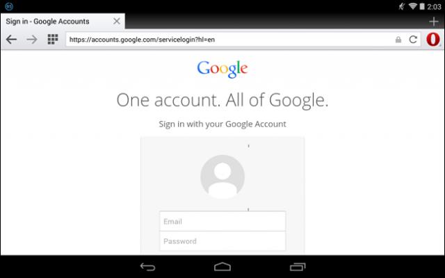 cuenta de google desde android