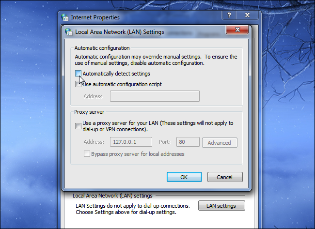 desactivar autotdectar configuracion steam
